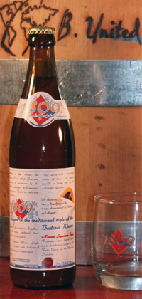 """1809"" Berliner Weisse Style bottle and glassware"