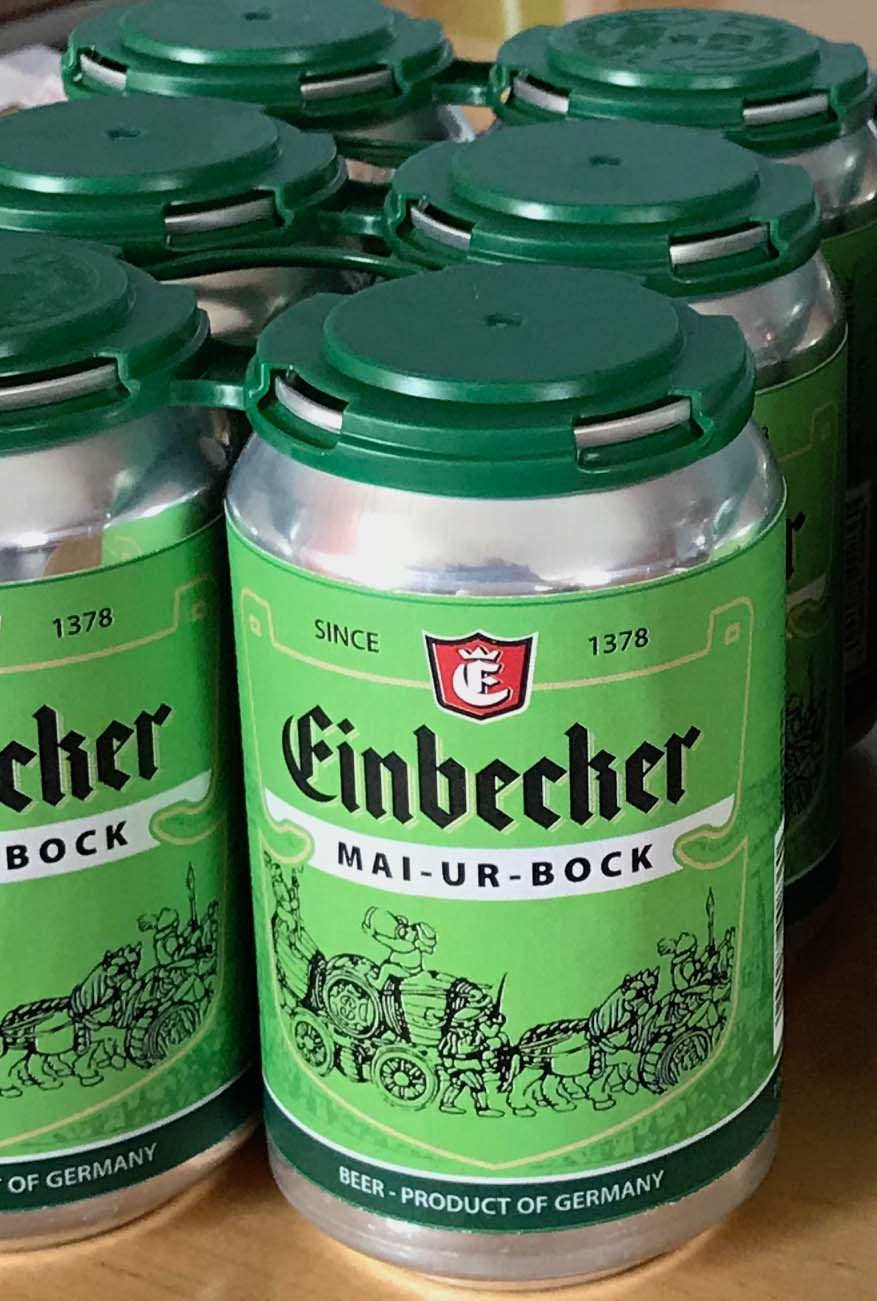 Einbecker Mai-Ur-Bock 11.2oz bottle & 300mL glass.