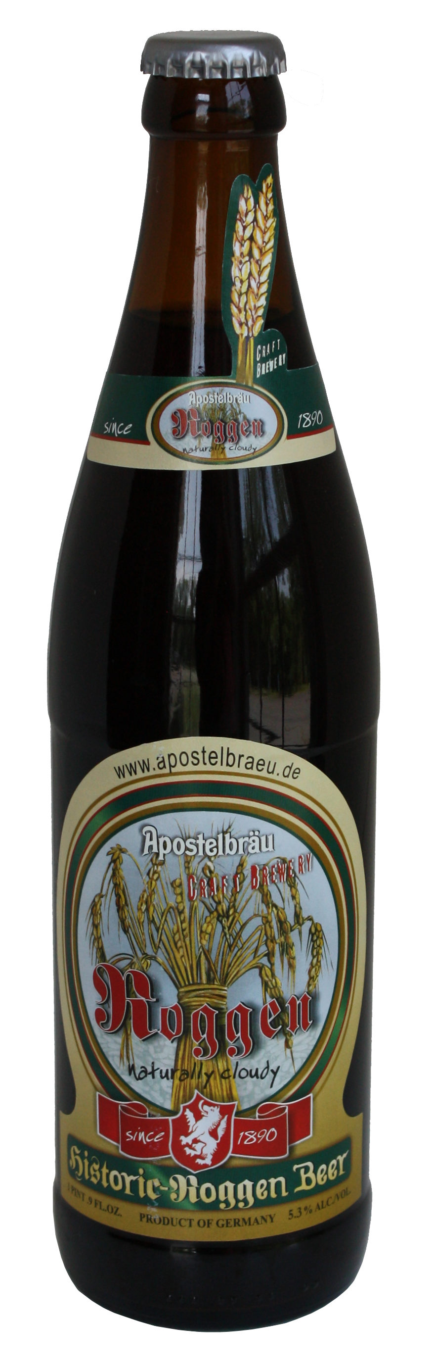 Historic Roggenbier bottle