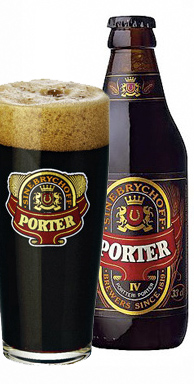 Sinebrychoff Porter bottle and glass