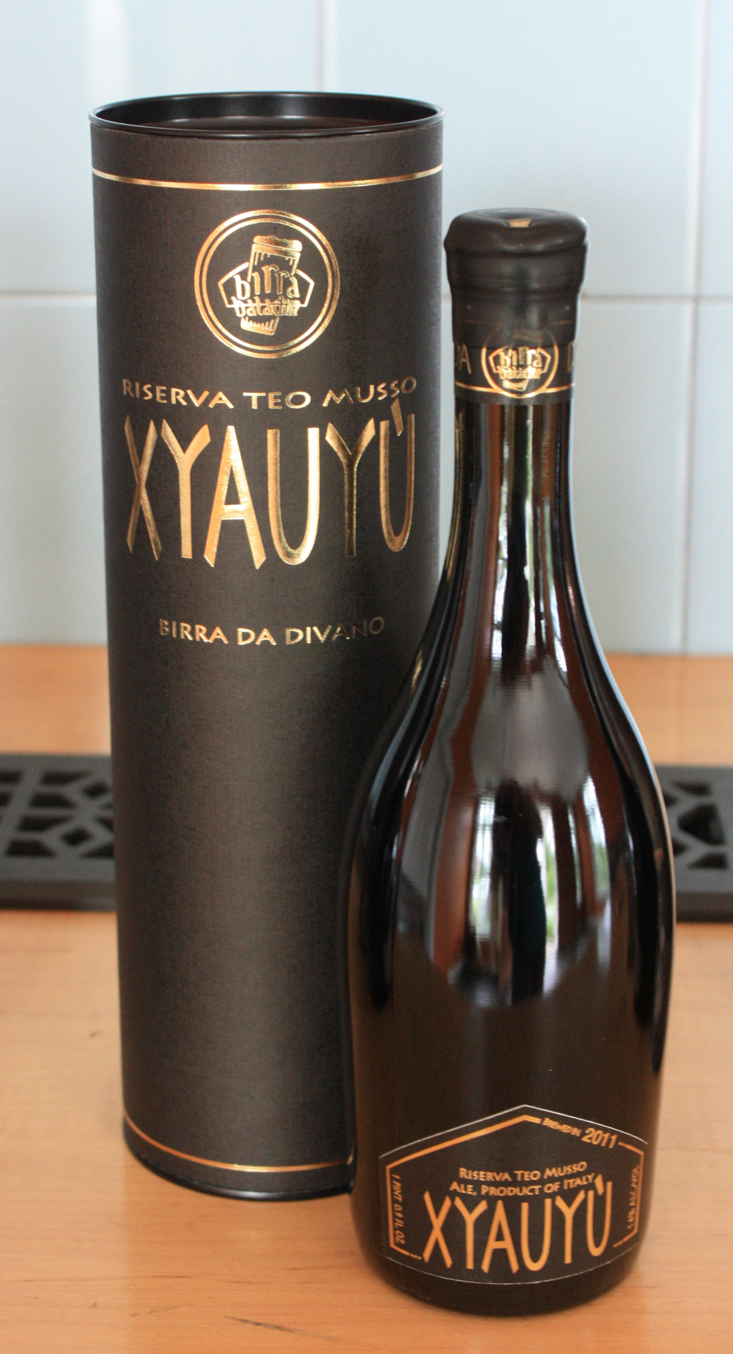 "Xyauyu ""Gold Edition"" 16.9oz. bottle."
