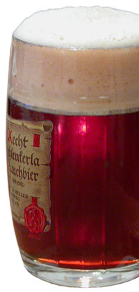 Aecht Schlenkerla Fastenbier in a 500mL glass mug.