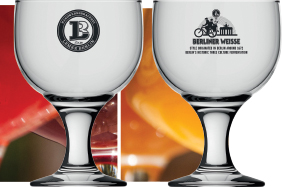 Berliner Weisse glass, front and back
