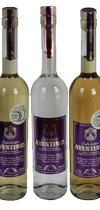 The three varieties of Distilled Aventinus bottles
