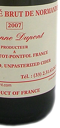Cidre Bouche Brut E. Dupont 750mL bottle.