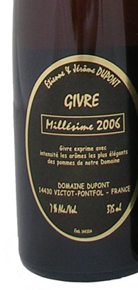 E. Dupont Cidre de Givre 375mL bottle.
