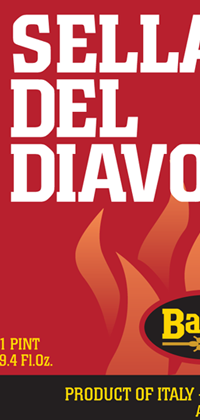 Sella Del Diavolo 25.4oz bottle label.