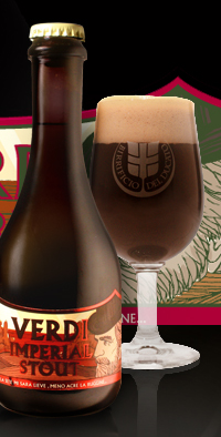 Verdi Imperial Stout 11.2oz bottle & official glassware.