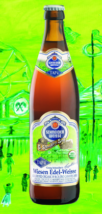 Organic Weisen-Edel Weisse bottle and glass
